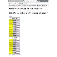 Ethernet İnternet 8 Röle Kontrol Kartı rt209 kutulu