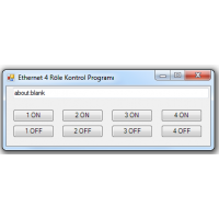 Ethernet İnternet 4 Röle Kontrol Kartı