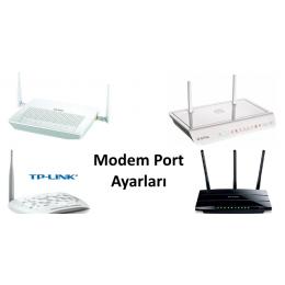 Program geliştirme modem port yönlendirme port açma hizmeti